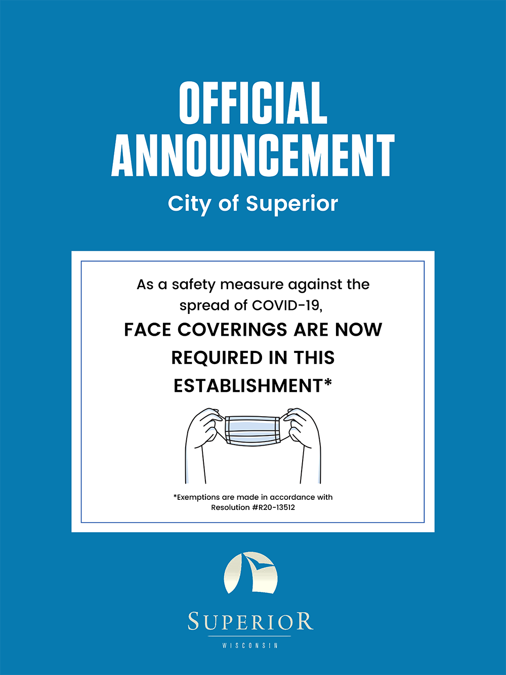 COVID-19: Face coverings are required in this establishment